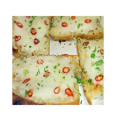 Spicy Garlic Bread with cheese